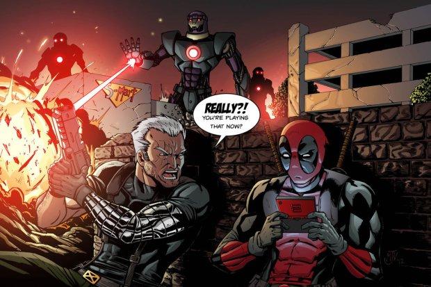 Crédits photo © Marvel - Deadpool et Câble, le fils de Cyclope et de Jean Grey issu d'une réalité alternative apocalyptique, forment assez régulièrement une équipe (ils s'entretuent aussi)